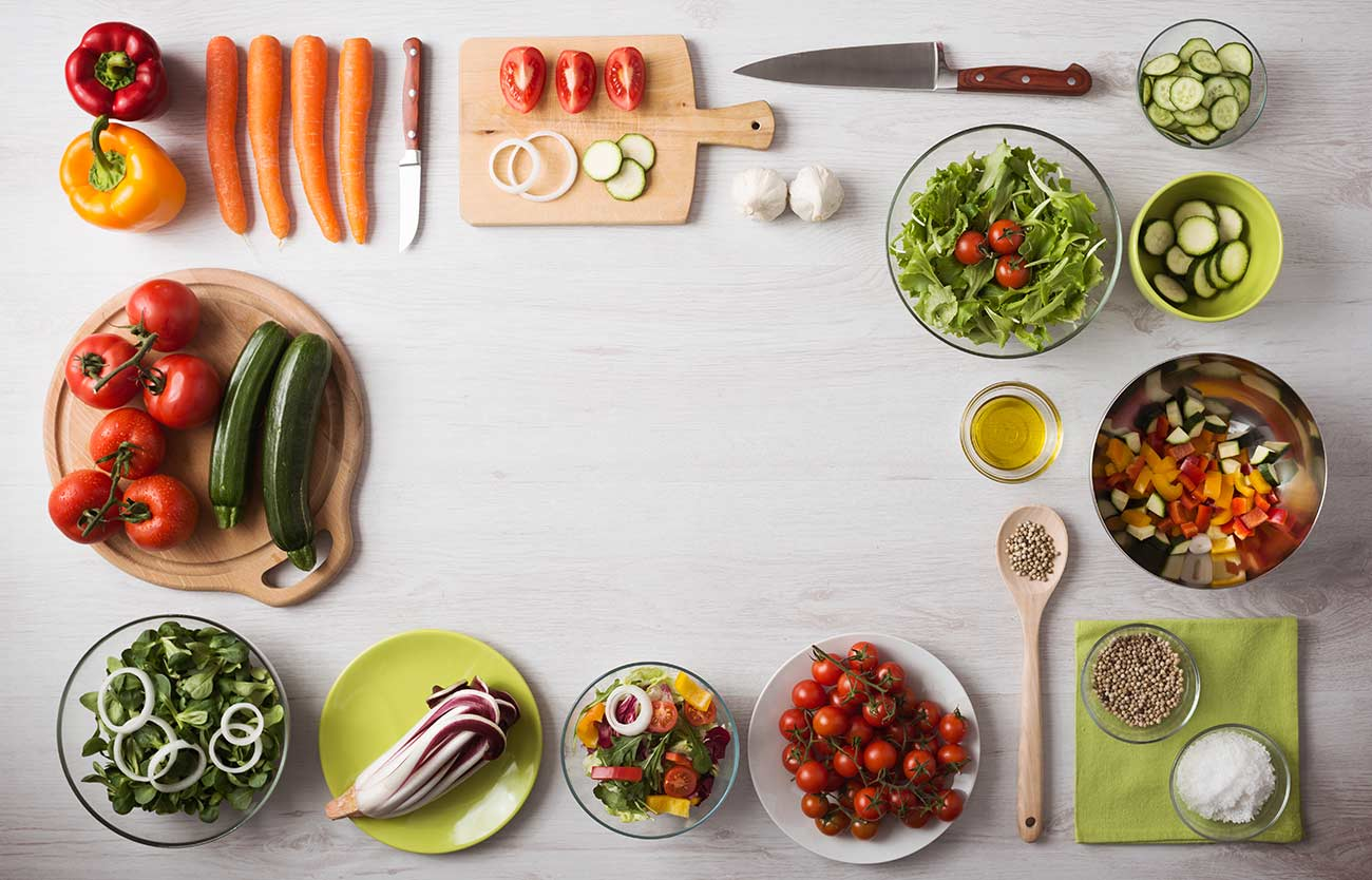Preparazione fantasia di verdure